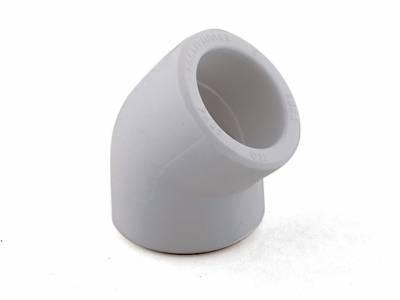Колено белое 45х25 РТП