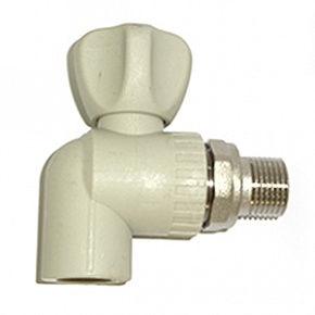 Кран шаровый угловой для радиаторов 20х1/2 РТП