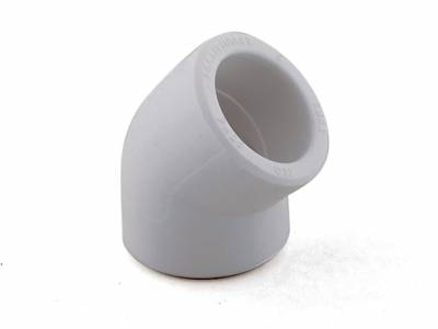 Колено белое 45х50 РТП